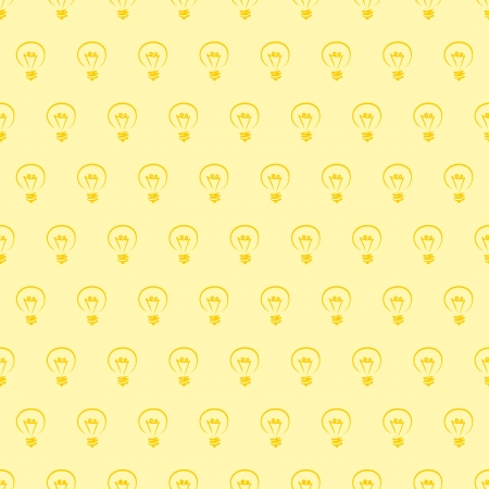 Seamless  pattern, texture or background with light bulbs on yellow background. For web design, blogs, www, scrapbooks, invitations and cards. Sign of creative and invention  Vector