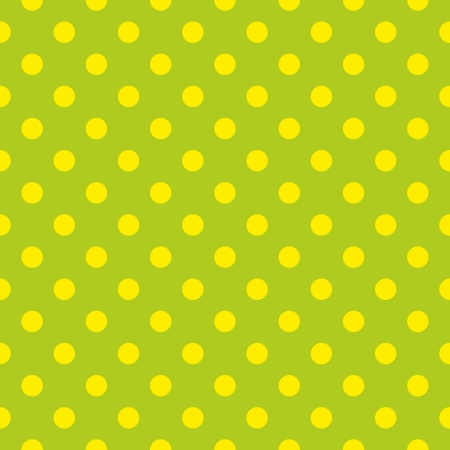 Seamless vector pattern or texture with neon yellow polka dots on spring fresh green background. For cards, invitations, websites, desktop, baby shower card background, party, web design, arts and scrapbooks.  Vector