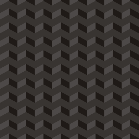 Aztec Chevron dark vector pattern, texture or background with zigzag stripes  Vector