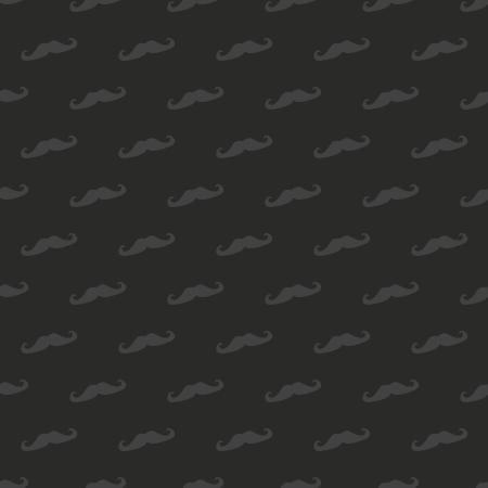 desktop wallpaper: Patr�n Seamless, textura o el fondo con bigote negro aislado en fondo negro. Elemento de dise�o vintage para web, fondo de escritorio, los blogs Vectores