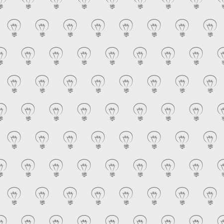 Seamless vector pattern texture with dark doodle hand drawn light bulbs on grey background for web design, blogs, www, scrapbooks, party invitations or cards  Sign of creative invention Stock Vector - 16824675