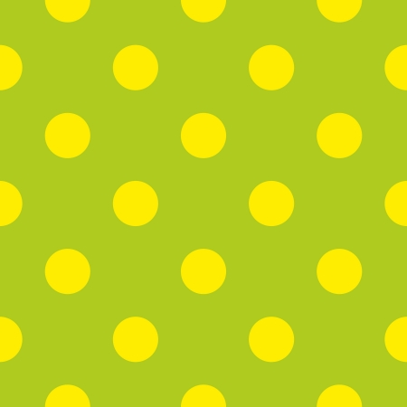 seamless pattern with neon yellow polka dots on a retro fresh, spring green background. For web design, dektop wallpaper cards, invitations, wedding or baby shower albums, backgrounds, arts and scrapbooks. Stock Vector - 16984092