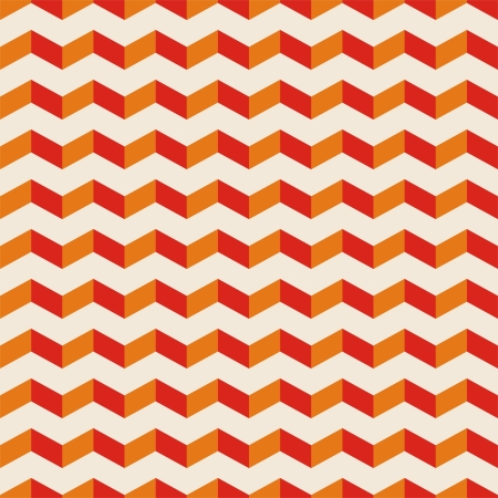 Aztec Chevron dark vector seamless pattern, texture or background with red and orange zigzag motif. Abstract decoration for website, blog, desktop wallpaper and web design Stock Vector - 16984091