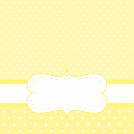 Vector sunny yellow wedding card or baby shower party invitation with white space to put your own text message