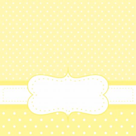 Wektor słonecznie żółta kartka ślubna lub prysznic zaproszenie dziecko stroną z białego miejsca, aby umieścić własną wiadomość tekstową Ilustracja