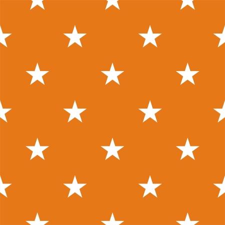 Naadloze patroon of textuur met witte sterren op de herfst oranje achtergrond. Voor kaarten, uitnodigingen, bruiloft of baby shower albums, achtergronden, kunst en plakboeken.