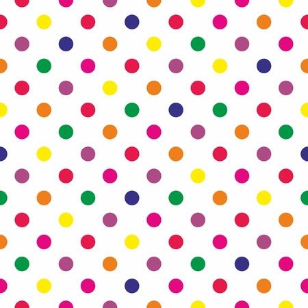 Naadloze patroon of textuur met kleurrijke stippen op een witte achtergrond