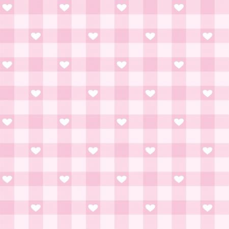 Naadloze roze Valentines achtergrond met schattige hartjes - zoete vector patroon