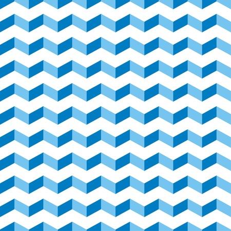 Aztec Chevron blauwe naadloze patroon, textuur of achtergrond met zigzag zwembad motief. Abstracte decoratie voor website, blog, desktop wallpaper en webdesign