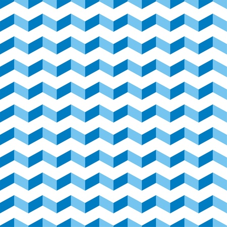 Aztec Chevron blue seamless pattern, texture or background with zigzag swimming pool motif. Abstract decoration for website, blog, desktop wallpaper and web design  Vector