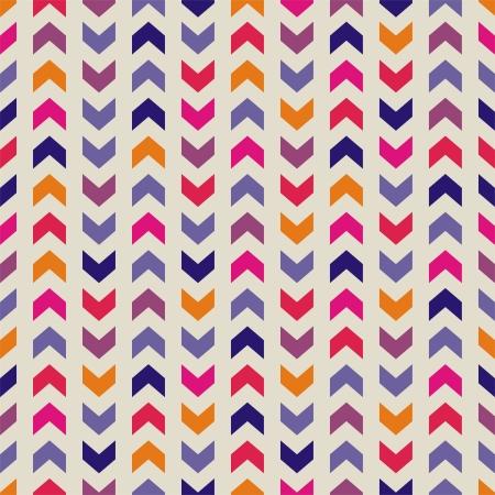 Aztec Chevron szwu wektor kolorowy wzór, tekstury lub tła z paskami zygzakiem. Latem w tle, tapety na pulpit lub element projektu strony internetowej Ilustracja