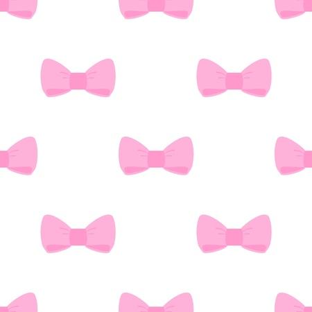 Bez szwu wektor słodkimi różowymi kokardkami na białym tle. Dla karty, zaproszenia, albumy ślubne lub dziecko prysznicem, tła, sztuki i albumy.