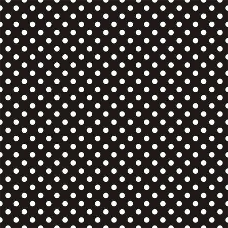Wektor bez szwu deseń z białymi kropkami na czarnym tle. Na tapetę pulpitu, projektowanie stron internetowych, karty, zaproszenia, tła, sztuki i albumy