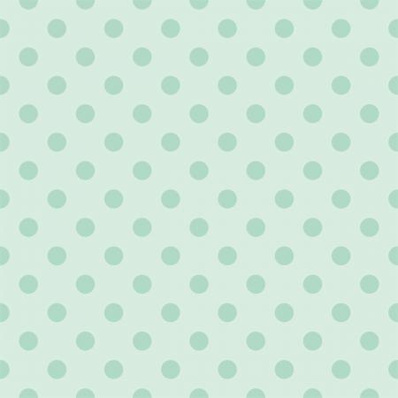 レトロなビンテージ ミント グリーンの背景に暗い暗緑色水玉のシームレスなパターン。デスクトップの壁紙、web デザイン、カード、招待状、結婚  イラスト・ベクター素材
