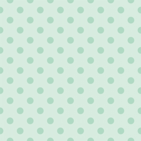 Seamless pattern with dark bottle green polka dots on a retro vintage mint green background. For desktop wallpaper, web design, cards, invitations, wedding or baby shower albums, backgrounds, arts and scrapbooks