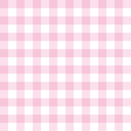 Seamless sweet pink and white background - classic big checkered pattern or grid texture for web design, desktop wallpaper or culinary blog website Vector