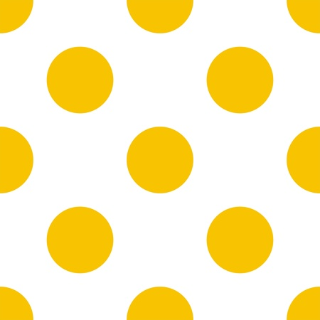 Seamless vector summer pattern with sunny yellow polka dots on a white background  For website design, desktop wallpaper, cards, invitations, wedding or baby shower albums, backgrounds, arts and scrapbooks   Vector