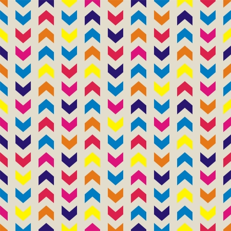 Aztec Chevron seamless vector colorful pattern, texture or background with zigzag stripes  Thanksgiving background, desktop wallpaper or website design element Stock Vector - 20450095
