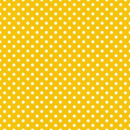 Naadloze vector patroon met witte stippen op een zonnige zomer gele achtergrond voor kaarten, uitnodigingen, bruiloft of baby shower albums, achtergronden, kunst en plakboeken en desktop wallpaper Stock Illustratie
