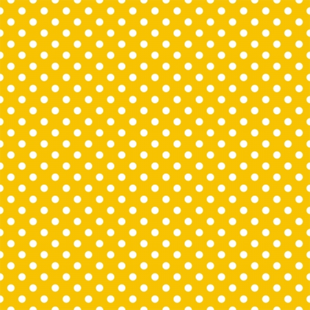 Seamless vector pattern with white polka dots on a sunny yellow summer background  For cards, invitations, wedding or baby shower albums, backgrounds, arts and scrapbooks and desktop wallpaper   Ilustracja