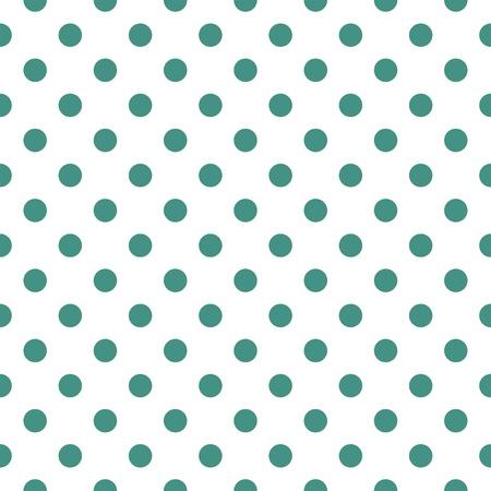 白い背景に暗い緑色に水玉とシームレスなベクター パターン