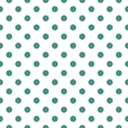 Seamless vector pattern with dark green polka dots on a white background