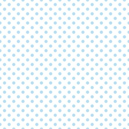 Naadloze vector patroon met pastelkleurbaby leuke blauwe stippen op een witte achtergrond voor webdesign, desktop wallpaper, kaart, uitnodiging, huwelijk, baby shower, album, achtergrond, kunst, decoratie of plakboek