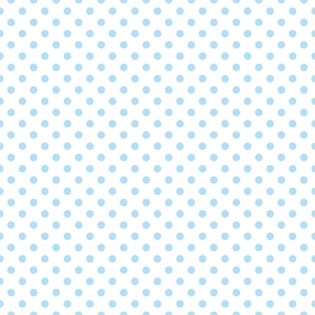 Seamless vector pattern with cute pastel baby blue polka dots on white background  For web design, desktop wallpaper, card, invitation, wedding, baby shower, album, background, art, decoration or scrapbook  Ilustracja
