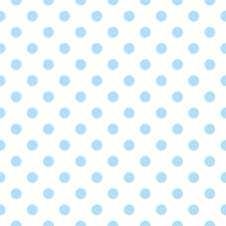 Seamless vector pattern with cute pastel baby blue polka dots on white background  For web design, desktop wallpaper, card, invitation, wedding, baby shower, album, background, art, decoration or scrapbook  Vettoriali
