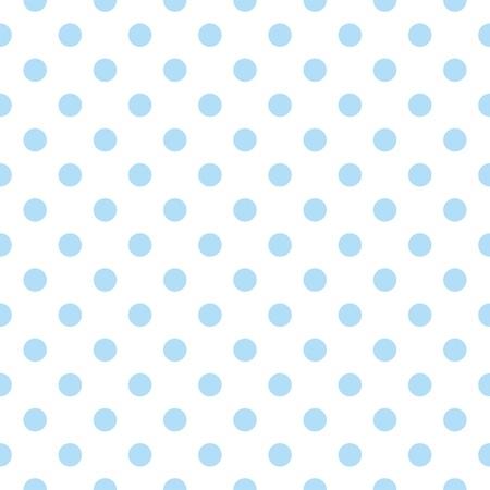 Naadloze vector patroon met leuke pastel baby blauw stippen op een witte achtergrond voor webdesign, desktop wallpaper, kaart, uitnodiging, huwelijk, baby shower, album, achtergrond, kunst, decoratie of plakboek Stock Illustratie