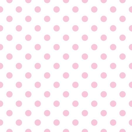 Vector sin fisuras, patrón con pastel lunares rosas sobre un fondo blanco para el diseño web, tarjetas de papel tapiz del escritorio, invitaciones, boda o el bebé álbumes ducha, fondos, artes y álbumes Ilustración de vector