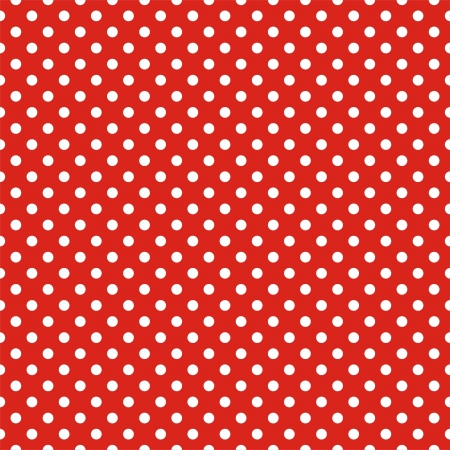 Retro seamless pattern or texture with white polka dots on red background  For christmas background, blog, web design, desktop wallpaper scrapbook, party or baby shower invitation and wedding cards   Illustration