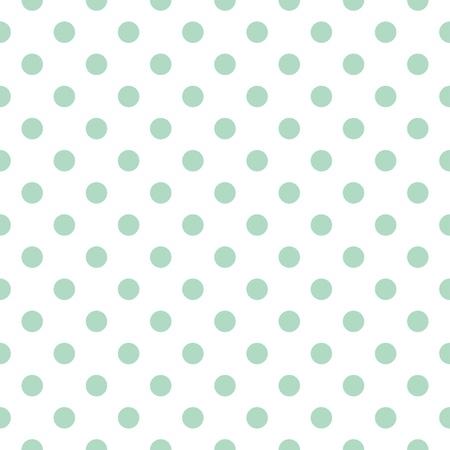 Naadloos patroon met retro vintage mint groene stippen op een witte achtergrond