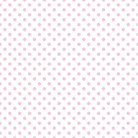 白い背景の上にパステル調ピンク水玉とのシームレスなパターン