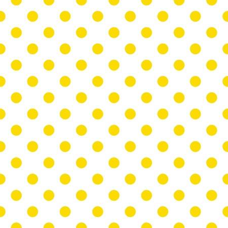 Naadloos patroon met zonnige gele stippen op een witte achtergrond