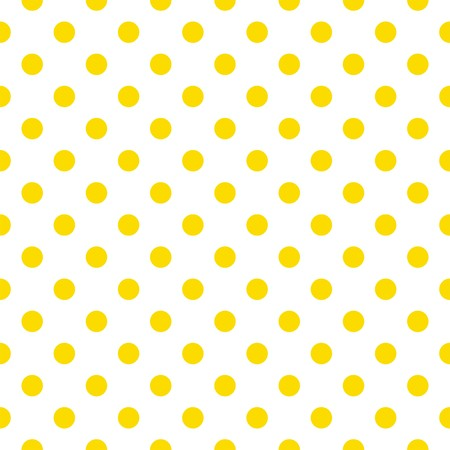 Seamless pattern with sunny yellow polka dots on a white background  Vector