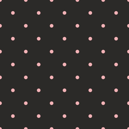 Seamless vector pattern with sweet pink polka dots on black background  For kids background, web design, blog, desktop wallpaper, backgrounds, arts and scrapbooks  Vector