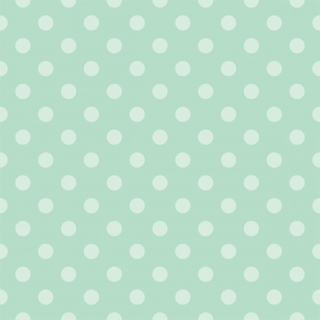Seamless vector pattern with light green polka dots on a retro vintage mint green background  For desktop wallpaper, web design, hipster blog, wedding or baby shower albums, backgrounds, arts and scrapbooks Vector