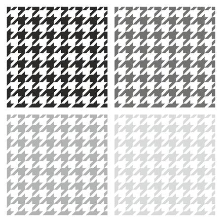desktop wallpaper: Pata de gallo vector sin patr�n de color gris, blanco y negro conjunto tradicional de recogida de tela a cuadros escoceses para el sitio web de fondo o fondo de escritorio Vectores