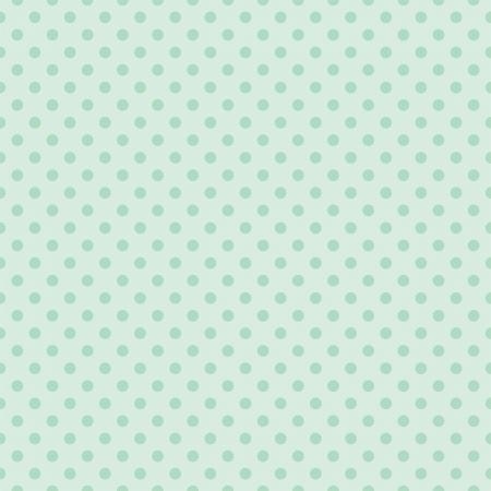 Naadloze vector patroon met donkere mintgroene stippen op een retro vintage lichtgroene achtergrond voor desktop wallpaper, webdesign, hipster blog, bruiloft of baby shower albums, achtergronden, kunst en plakboeken
