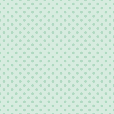 Seamless vector pattern with dark mint green polka dots on a retro vintage light green background  For desktop wallpaper, web design, hipster blog, wedding or baby shower albums, backgrounds, arts and scrapbooks Vector
