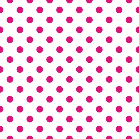 repetition row: Seamless vector pattern with dark pink polka dots on a white For web design, desktop wallpaper cards, invitations, wedding or baby shower albums, arts and scrapbooks  Illustration