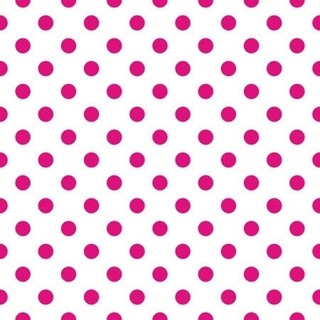 Wektor bez szwu deseń z ciemnymi różowe kropki na białym do projektowania stron internetowych, karty pulpit tapety, zaproszenia, ślub lub baby shower albumy, sztuki i albumy Ilustracja