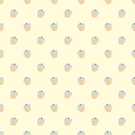 desktop wallpaper: Patr�n de vectores sin fisuras con peque�as magdalenas, muffins inconformista verdes, dulce pastel en color amarillo lim�n con dulces para fondo de escritorio, dise�o web, ni�os o sitio web el blog culinario Vectores