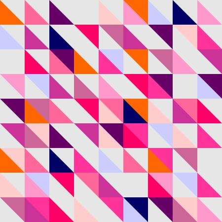 Modèle d'emballage de vecteur Seamless, texture violet, bleu marine, rose et gris foncé coloré formes de mosaïque géométrique hippie surface plane conception de papier peint de triangle avec aztèque chevron zigzag impression Banque d'images - 24936622