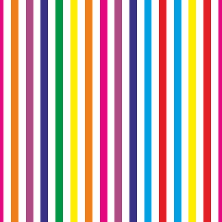rainbow stripe: Seamless stripes vector background or pattern  Desktop wallpaper with colorful yellow, red, pink, green, blue, orange and violet stripes for kids website background Illustration