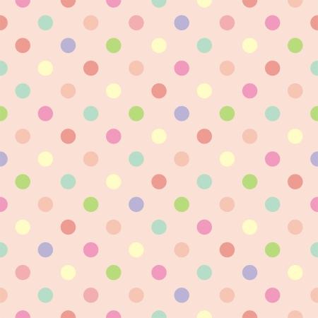 desktop wallpaper: Vector de fondo colorido con lunares rojos, rosas, verdes, azules y amarillos sobre fondo de color rosa beb� - patr�n transparente retro o la textura de fondo de escritorio, blog, dise�o web