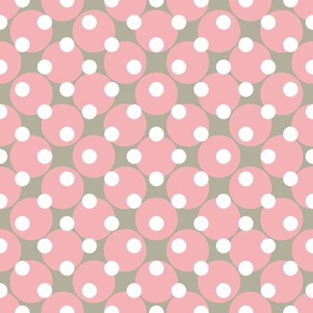 desktop wallpaper: Patr�n de vector transparente con lunares Fondo de colores en blanco, gris y rosa para el dise�o web y fondo de escritorio