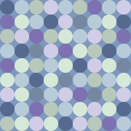 Seamless vector pattern or background with big colorful dots on dark navy blue background  Retro design element for desktop wallpaper or website design Vector