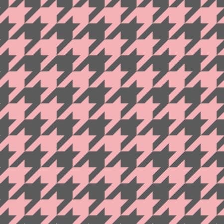 Houndstooth vector naadloze pastel roze en donker grijs patroon of achtergrond Traditionele Schotse plaid stoffencollectie voor website-achtergrond of desktop wallpaper Stock Illustratie